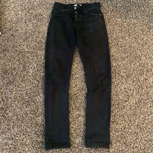 Re/done Black Ass rip denim jeans 23